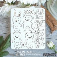 Чипборд ScrapBox - детский набор зверушек Наш малыш Hc-011