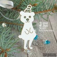 Чипборд ScrapBox - Медведь в шапочке Hc-025