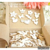 Чипборд ScrapBox - Набор коробочка счастья Baby (90 шт.) Hc-068
