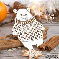 Чипборд ScrapBox - Мишка в вязаном свитере Hc-072