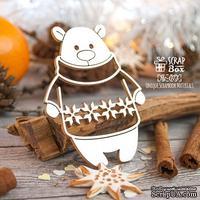 Чипборд ScrapBox - Мишка в свитере с рисунком Hc-073