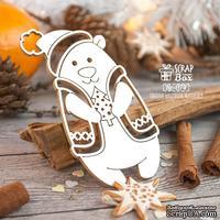 Чипборд ScrapBox - Мишка в жилетке с елкой Hc-074