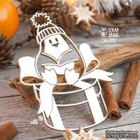 Чипборд ScrapBox - Пингвин на подарке Hc-078