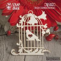 Чипборд ScrapBox - Клетка с птичкой №1