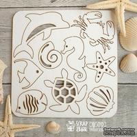 Чипборд ScrapBox - набор малый Морской