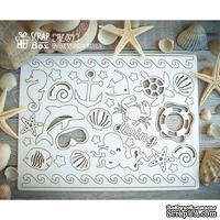 Чипборд ScrapBox - набор Морской