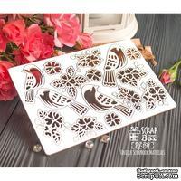 Чипборд ScrapBox - набор птиц с цветами Hf-191