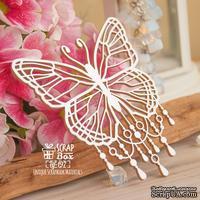 Чипборд ScrapBox - бабочка с бусинками Hf-197 - ScrapUA.com