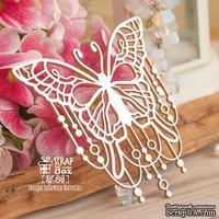 Чипборд ScrapBox - бабочка с бусинками Hf-198