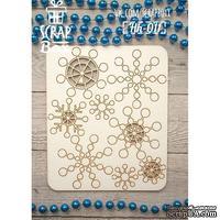 Чипборд ScrapBox - Набор снежинки геометрические Hh-011