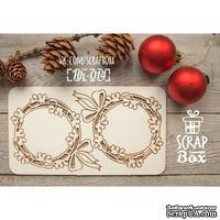 Чипборд ScrapBox - Набор веночков с листиками Hh-014
