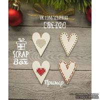 Чипборд ScrapBox - Сердечки для вышивки №2