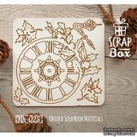 Чипборд ScrapBox - Часы с остролистом Hh-025