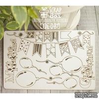 Чипборд ScrapBox - День рождения Hh-047