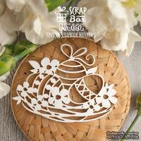 Чипборд ScrapBox - гнездо с пасхальными яйцами Hh-050