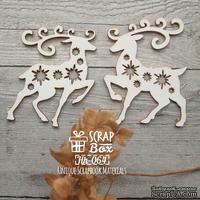 Чипборд ScrapBox - Олени со звездочками Hh-064