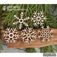 Чипборд ScrapBox - Коллекция из пяти снежинок Hh-091