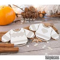 Чипборд ScrapBox - Набор для вышивки свитера с сердечком Hh-126
