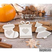 Чипборд ScrapBox - Набор для вышивки из 3-х игрушек с подарком Hh-128