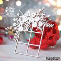 Чипборд ScrapBox - Окошко с новогодней композицией Hh-160