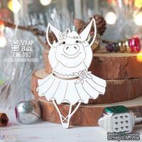 Чипборд ScrapBox - Свинка балерина с поднятыми ручками Hh-176