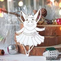Чипборд ScrapBox - Свинка балерина с разведенными руками Hh-177