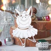 Чипборд ScrapBox - Свинка балерина с поднятой ножкой Hh-178