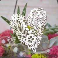 Чипборд ScrapBox - Цветочное сердце Hh-179