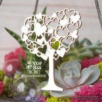 Чипборд ScrapBox - Дерево с сердечками Hh-180