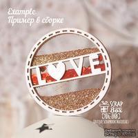 Основа для шейкера ScrapBox круг с надписью Love ( 2 заготовки) Hh-188