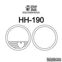 Основа для шейкера ScrapBox круг с сердечком ( 2 заготовки) Hh-190