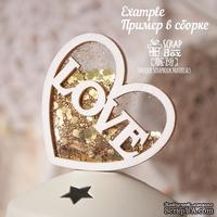 Основа для шейкера  ScrapBox в форме сердца с надписью Love ( 2 заготовки) Hh-191