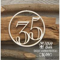 Чипборд ScrapBox - Цифра 35