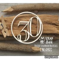 Чипборд ScrapBox - Цифра 30
