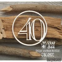 Чипборд ScrapBox - Цифра 40