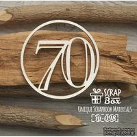 Чипборд ScrapBox - Цифра 70