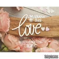 Чипборд ScrapBox - Надпись Love