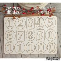Чипборд ScrapBox - Набор цифр №1