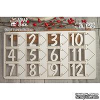 Чипборд ScrapBox - Набор цифр №2