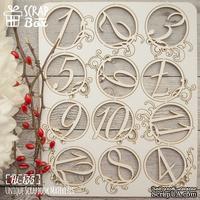 Чипборд ScrapBox - Набор цифр №3