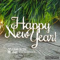 Чипборд ScrapBox - Надпись Happy New Year Hi-205