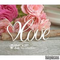 Чипборд ScrapBox - надпись Love с сердечком Hi-212