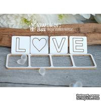 Чипборд ScrapBox - надпись Love квадратиками Hi-216