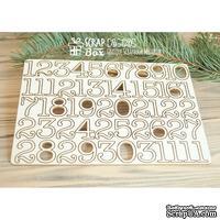 Чипборд ScrapBox - Набор чисел для рождественского календаря (advent calendar) Hi-320