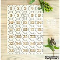 Чипборд ScrapBox - Набор чисел для рождественского календаря (advent calendar) Hi-323