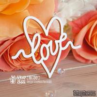 Чипборд ScrapBox - Надпись Love в сердечке Hi-341