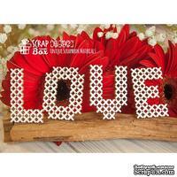 Чипборд ScrapBox - Надпись Love под вышивку Hi-342