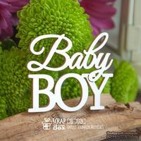 """Чипборд ScrapBox - Надпись """"Baby Boy"""" Hi-359"""