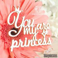 Чипборд ScrapBox - Надпись You are my princess Hi-375