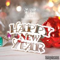 Чипборд ScrapBox - Надпись Happy New Year Hi-414